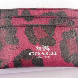 COACH Ocelot Print Credit Card Case NWOT